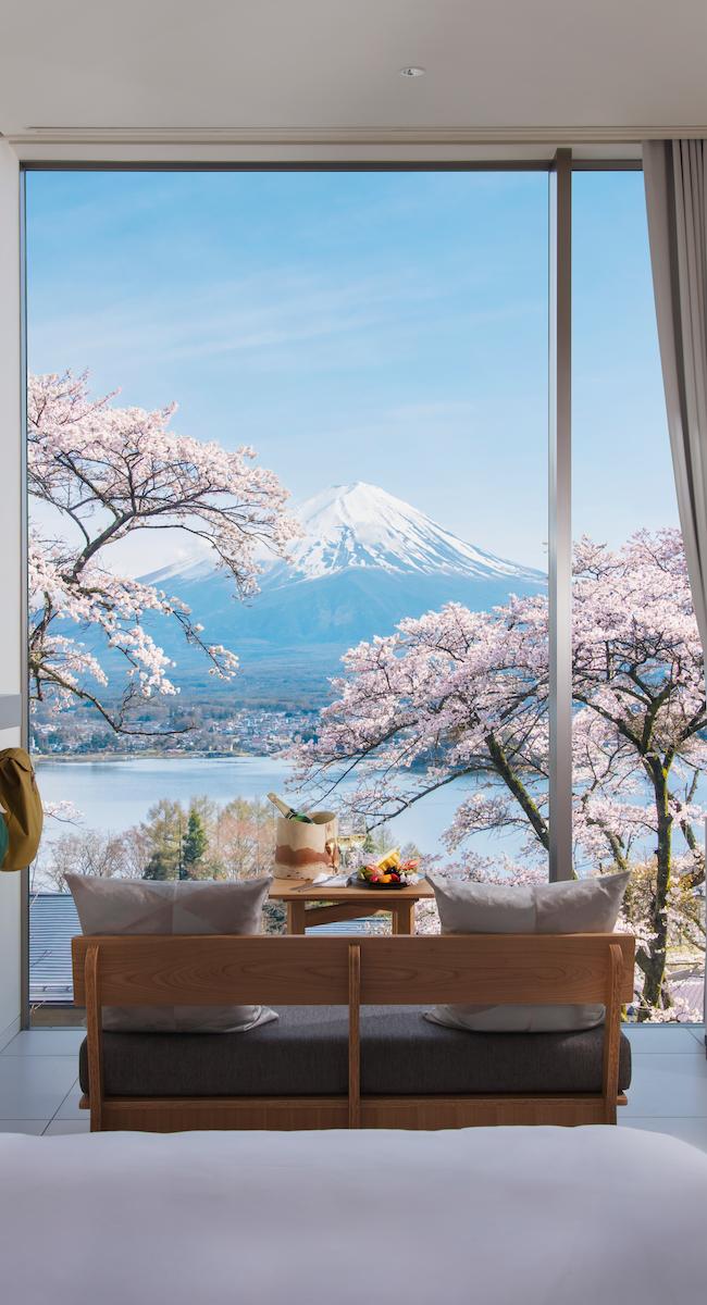 chambre avec vue mont Fuji